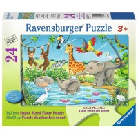 Waterhole Fun African Animals 24 pc Floor Puzzle