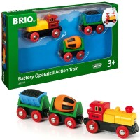 Brio Battery Operated Action Train 3 pc Set