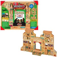 Pharaohs and Pyramids ArchiQuest Wooden Blocks Building Set