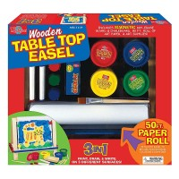 Wooden Tabletop Easel with Art Supplies Set