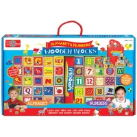 Alphabet & Numbers Cutesie Wooden Blocks