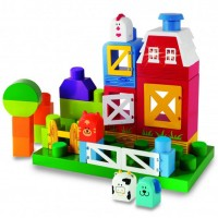 Toddler Barnyard Build & Play Farm Set