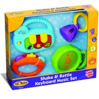 Shake & Rattle Keyboard 4 Music Toys Set