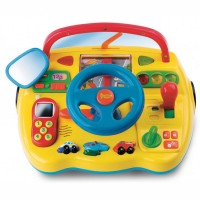 Electronic Toy Dashboard with Steering Wheel