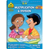 Multiplication & Division Grades 3-4 64 Pages Workbook