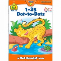 Numbers 1-25 Dot-to-Dot 64 Pages Preschool Activity Workbook