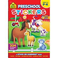 Preschool Stickers 64 Pages Learning Activity Book