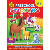 Preschool Stickers Learning Activity Book