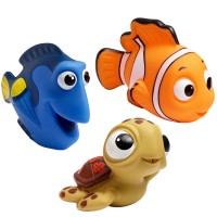 Disney Finding Nemo Squirt Toys 3 pc Bath Set
