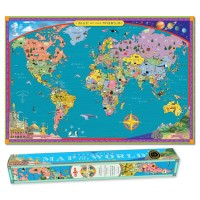 World Map Wall Poster for Kids