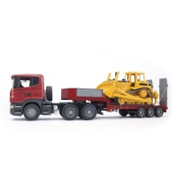 Bruder Scania R Series Low Loader & Cat Bulldozer 2 Vehicles Set