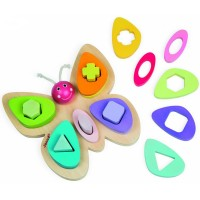Butterfly Shape Sorter Wooden Activity Toy