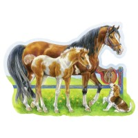 Happy Horses 72 pc Shaped Puzzle