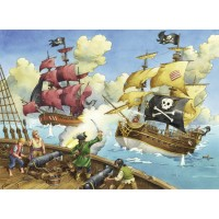 Pirate Battle 100 pc Kids Puzzle