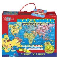 Map of the World 24 pc Jumbo Floor Puzzle