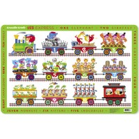 Counting Educational Placemat for Kids - 123 Express Train