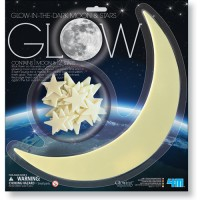 Glow in the Dark Moon & Stars Set