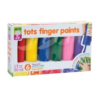 Toddler Finger Paints 6 Colors Set