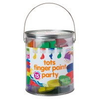 Tots Finger Paint Party 15 pc Toddler Art Set