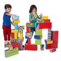 Big Stack Giant Cardboard Blocks 40 pc Play Set
