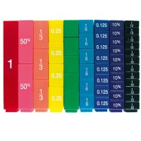Fraction Equivalency Stacking Cubes Math Set