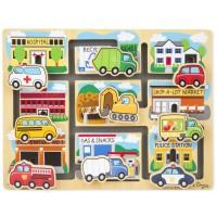 Vehicles Maze Wooden Activity Board