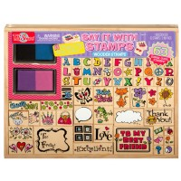 Say It with Stamps 63 pc Wooden Stamp Set
