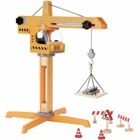 Crane Lift 10 pc Construction Wooden Playset