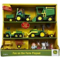 John Deere Farm Vehicles Toddler Playset