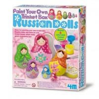 Russian Matryoshka Dolls Box Painting Craft Kit