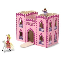 Fold & Go Princess Castle Wooden Toy