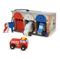 Lock and Match Rescue Truck Garage Play Set