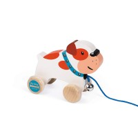 My Dog Pull Along Bulldog Wooden Toy