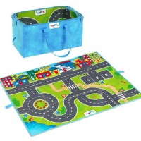 Viking Toys Roadway Vehicles Play Mat Storage Bag 3 pcs Playset