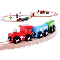 Cubbie Lee Premium Wooden 30 piece Train Set
