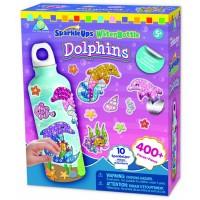 SparkleUps Dolphins Water Bottle Sticky Mosaics Craft