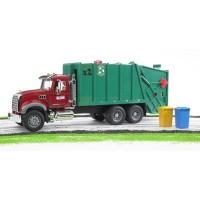 Bruder MACK Granite Green & Red Toy Garbage Truck