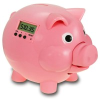 Electronic Piggy Bank with LCD - Pink Pig E Bank