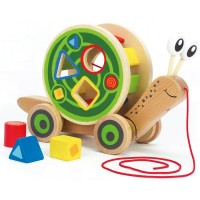 Walk Along Snail Pull Activity Toy