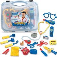 Pretend & Play Doctor Set 19 pc Blue Case