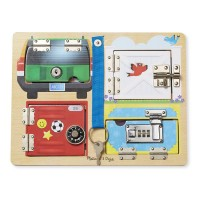 Lock & Latch Board Manipulative Activity Toy