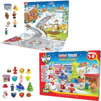 WOW Town Christmas Advent Calendar 24 pc Play Set