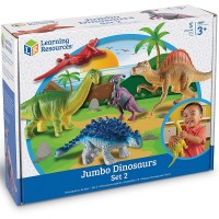 Jumbo Dinosaurs Set 2 Dino Figurines 5 pc Playset