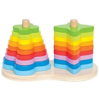 Double Rainbow Shape Stacking Toy