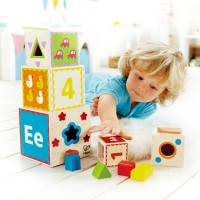 Pyramid of Play Shape Sorting Wooden Blocks Set