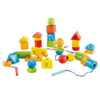String Along Shapes Wooden Lacing Blocks Set