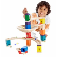 The Roundabout Quadrilla 91 pc Wooden Marble Run