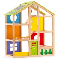 All Season House Wooden Dollhouse
