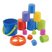 Nest & Stack Buckets Stacking Toy