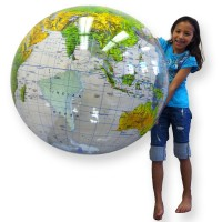 Inflatable Giant 36 Inches Topographical Globe